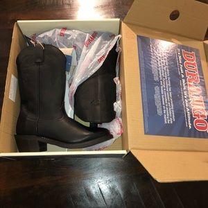 Men's size 8 Durango black leather cowboy boots